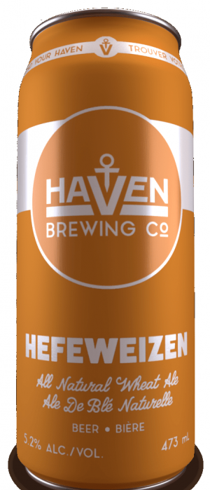 Hefeweizen by Haven Brewing Co. in Ontario, Canada