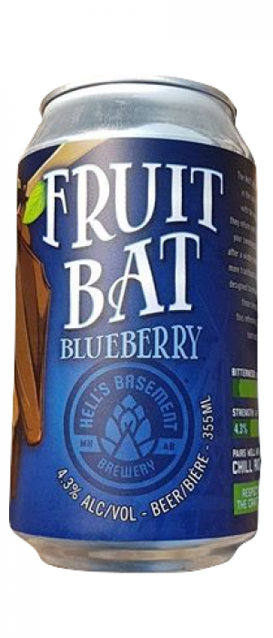 Fruit Bat Blueberry by Hell's Basement Brewery in Alberta, Canada