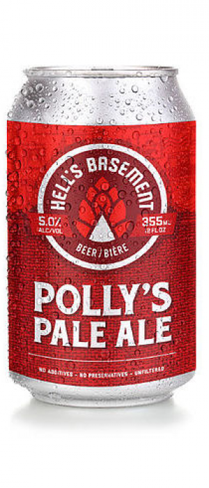 Polly's Pale Ale by Hell's Basement Brewery in Alberta, Canada