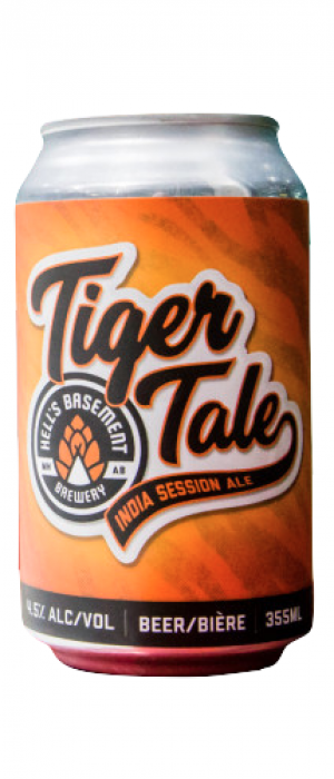 Tiger Tale by Hell's Basement Brewery in Alberta, Canada