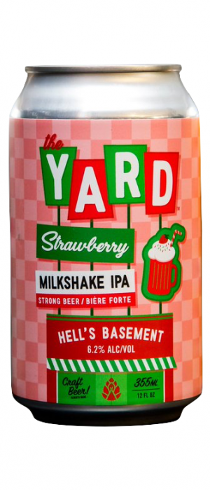 The Yard Strawberry IPA by Hell's Basement Brewery in Alberta, Canada