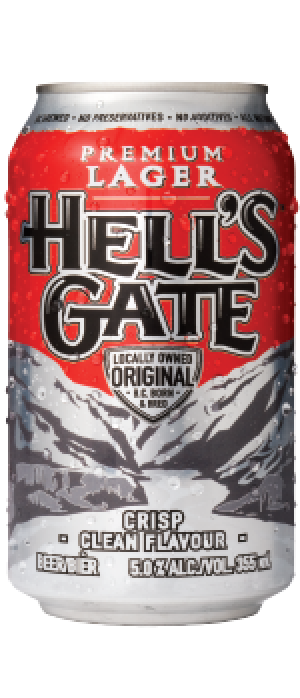 Hell's Gate Premium Lager by Hell's Gate Brewing in British Columbia, Canada