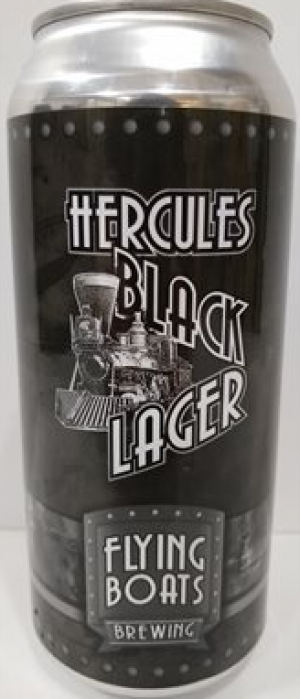 Hercules Black Lager by Flying Boats Brewing in New Brunswick, Canada