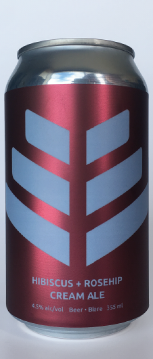 Hibiscus + Rosehip Cream Ale by Good Mood Brewery in Alberta, Canada