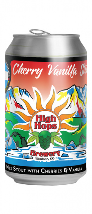 Cherry Vanilla Stout by High Hops Brewery in Colorado, United States