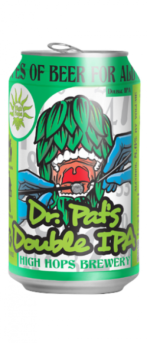 Dr. Pat's Double IPA by High Hops Brewery in Colorado, United States