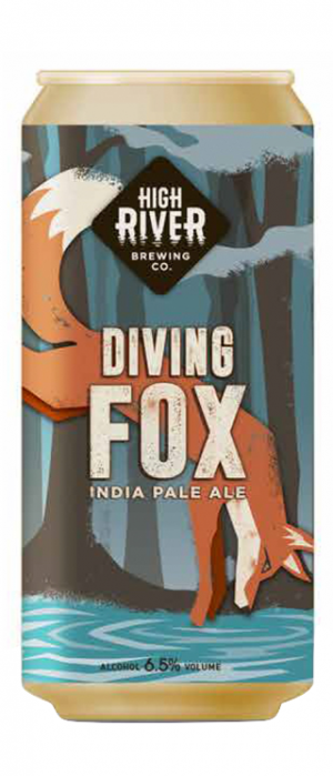 Diving Fox India Pale Ale by High River Brewing Company in Alberta, Canada