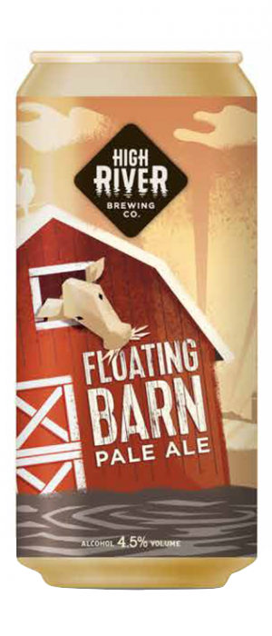 Floating Barn Pale Ale by High River Brewing Company in Alberta, Canada