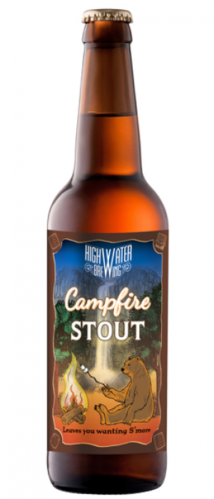 Campfire Stout by High Water Brewing in California, United States