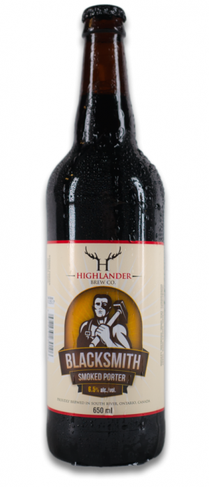Blacksmith Smoked Porter by Highlander Brew Company in Ontario, Canada