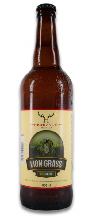 Lion Grass by Highlander Brew Company in Ontario, Canada