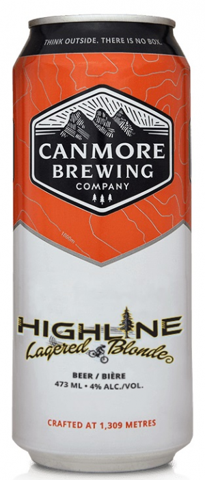 Highline Lagered Blonde by Canmore Brewing Company in Alberta, Canada
