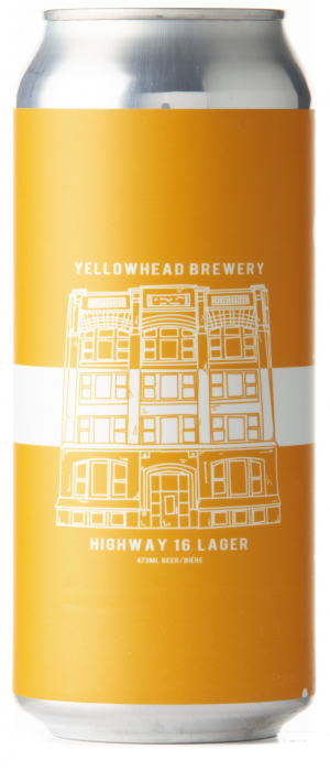 Highway 16 Lager by Yellowhead Brewing Company in Alberta, Canada