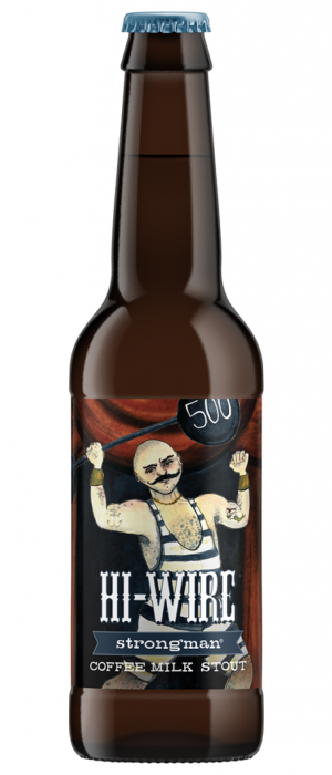 Strongman Coffee Milk Stout by Hi-Wire Brewing in North Carolina, United States