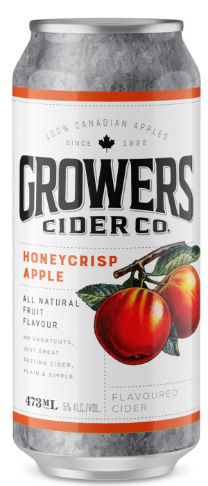 Honeycrisp Apple Cider by Growers Cider Co. in British Columbia, Canada