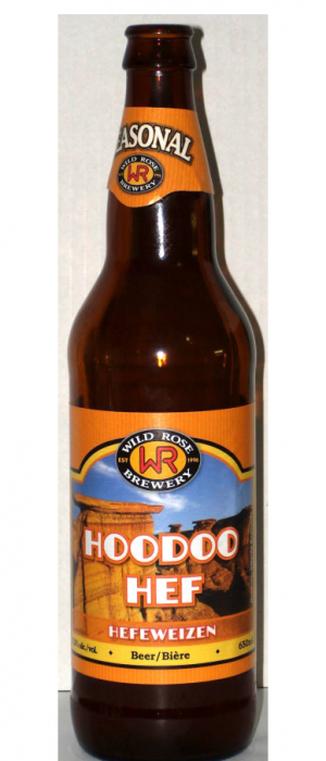 Hoodoo Hef by Wild Rose Brewery in Alberta, Canada