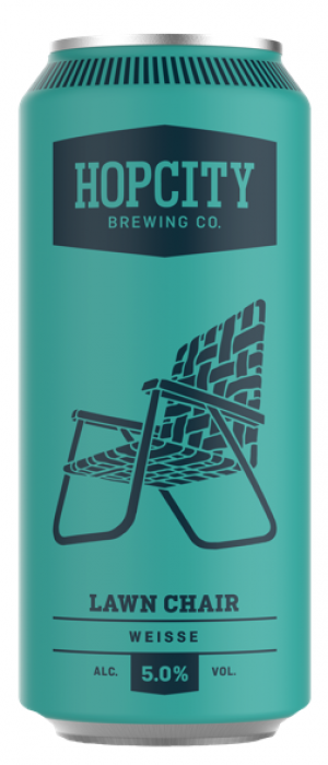 Lawn Chair Weisse by Hop City Brewing Company in Ontario, Canada