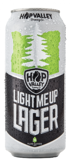 Light Me Up Lager by Hop Valley Brewing Company in Oregon, United States
