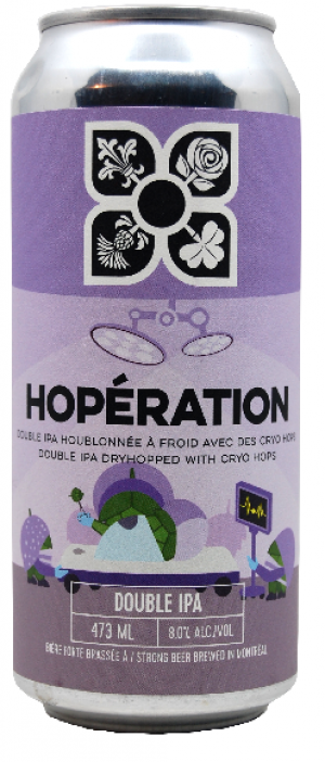 Hopération Double IPA by Microbrasserie 4 Origines in Québec, Canada