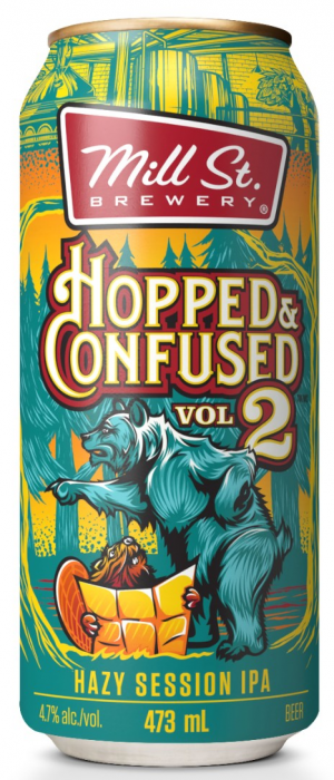 Hopped & Confused Vol. 2 Hazy Session IPA by Mill Street Brewery in Ontario, Canada