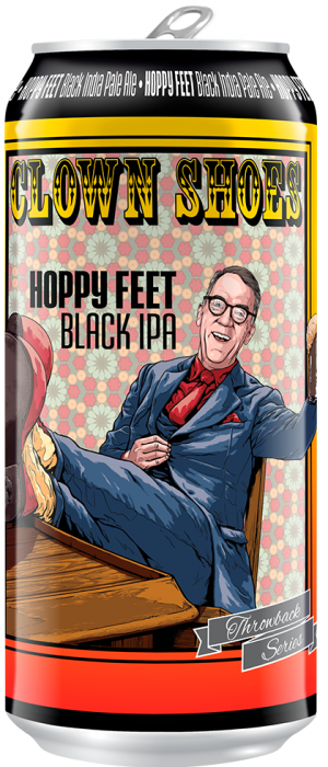 Hoppy Feet Black IPA by Clown Shoes Beer in Massachusetts, United States
