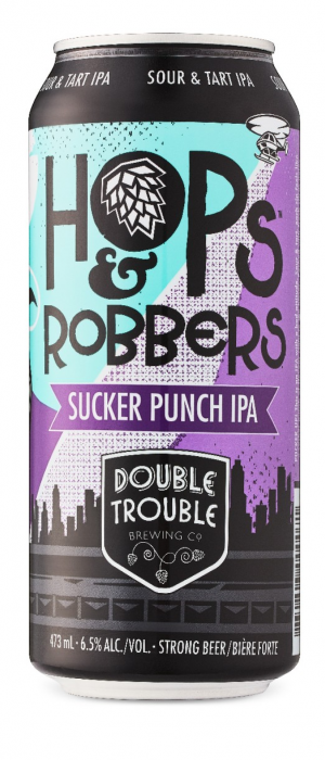 Hops and Robbers Sucker Punch IPA by Double Trouble Brewing Company in Ontario, Canada