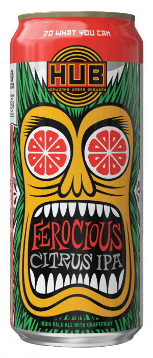 Ferocious Citrus IPA by Hopworks Urban Brewery in Oregon, United States