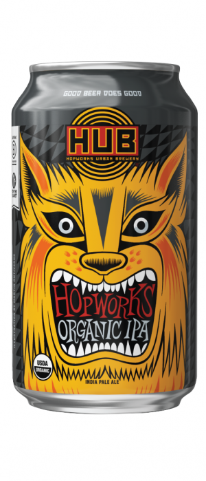 Hopworks Organic IPA by Hopworks Urban Brewery in Oregon, United States