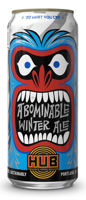 Organic Abominable Winter Ale by Hopworks Urban Brewery in Oregon, United States