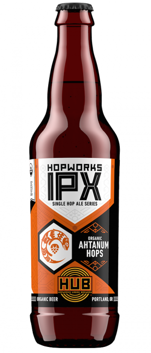 Organic Ahtanum IPX by Hopworks Urban Brewery in Oregon, United States