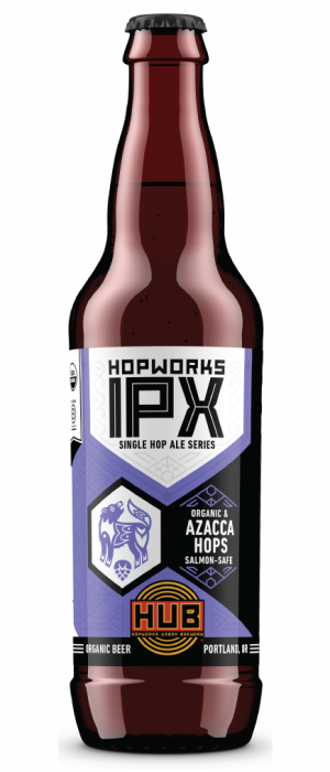 Organic Azacca IPX by Hopworks Urban Brewery in Oregon, United States