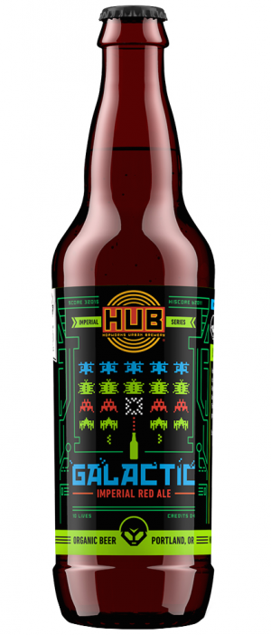 Organic Galactic Imperial Red Ale by Hopworks Urban Brewery in Oregon, United States