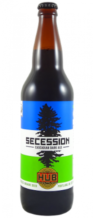 Secession Cascadian Dark Ale by Hopworks Urban Brewery in Oregon, United States
