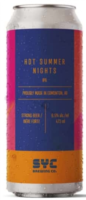 Hot Summer Nights by SYC Brewing Co. in Alberta, Canada