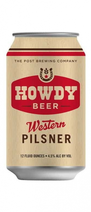 Howdy Beer Western Pilsner by The Post Brewing Co. - Rosedale in Colorado, United States
