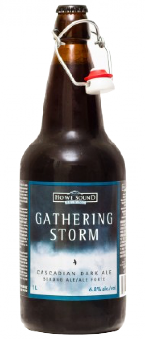 Gathering Storm Cascadian Dark Ale by Howe Sound Brewing in British Columbia, Canada