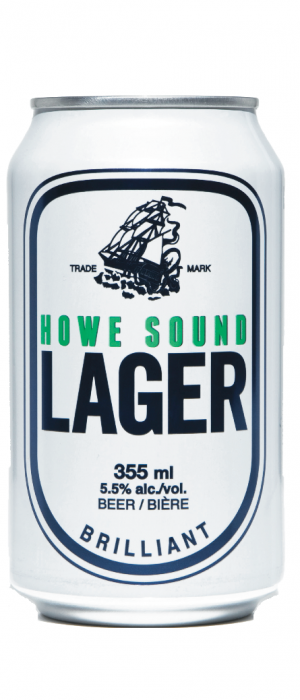 Howe Sound Lager by Howe Sound Brewing in British Columbia, Canada