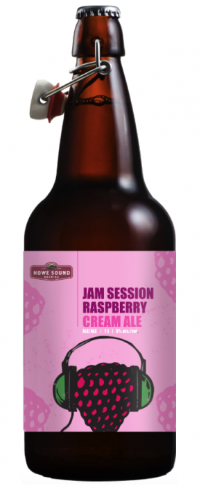 Jam Session Raspberry Cream Ale by Howe Sound Brewing in British Columbia, Canada