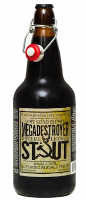 Megadestroyer Imperial Licorice Stout by Howe Sound Brewing in British Columbia, Canada