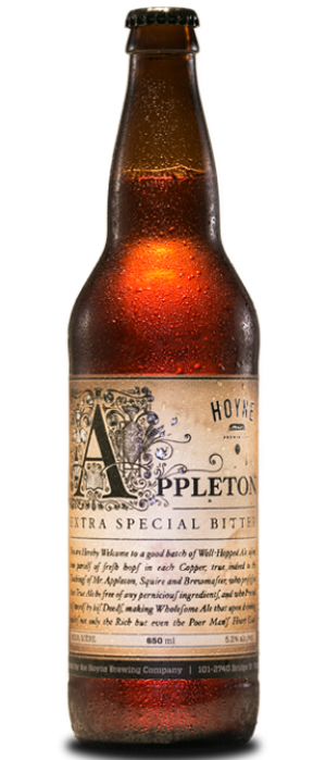 Appleton E.S.B. by Hoyne Brewing in British Columbia, Canada