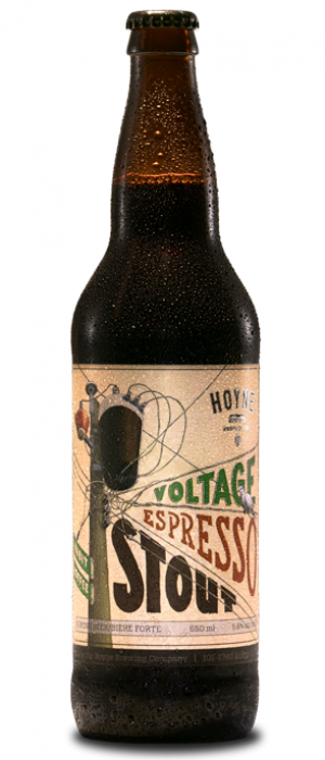Voltage Espresso Stout by Hoyne Brewing in British Columbia, Canada
