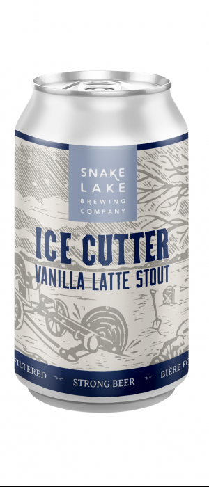 Ice Cutter Vanilla Latte Stout by Snake Lake Brewing Company in Alberta, Canada