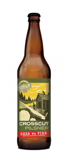 Crosscut Pilsner by Icicle Brewing Company in Washington, United States