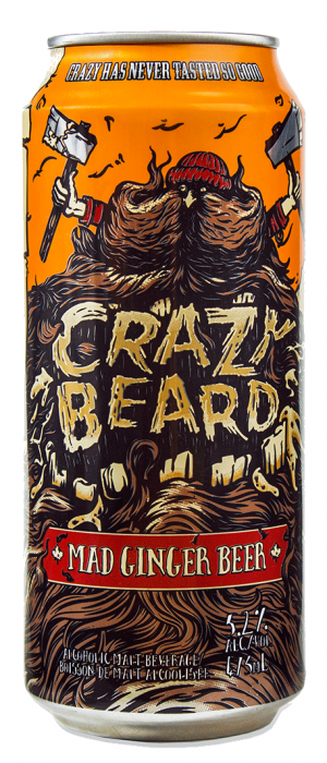 Crazy Beard Mad Ginger Beer by Iconic Brewing Company in Ontario, Canada