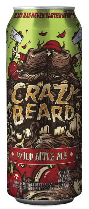 Crazy Beard Wild Apple Ale by Iconic Brewing Company in Ontario, Canada