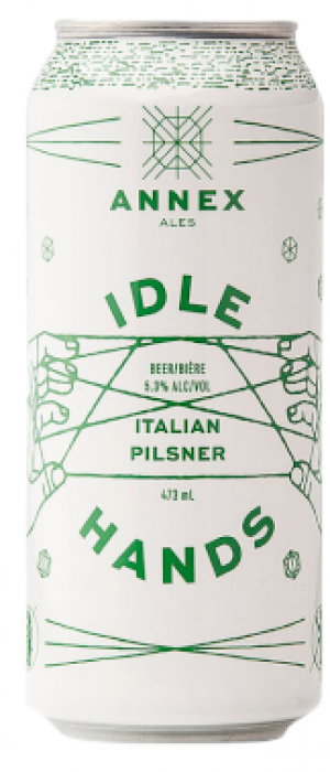 Idle Hands Italian Pilsner by Annex Ale Project in Alberta, Canada