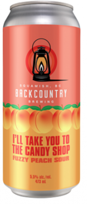 I'll Take You To The Candy Shop: Fuzzy Peach Sour by Backcountry Brewing in British Columbia, Canada