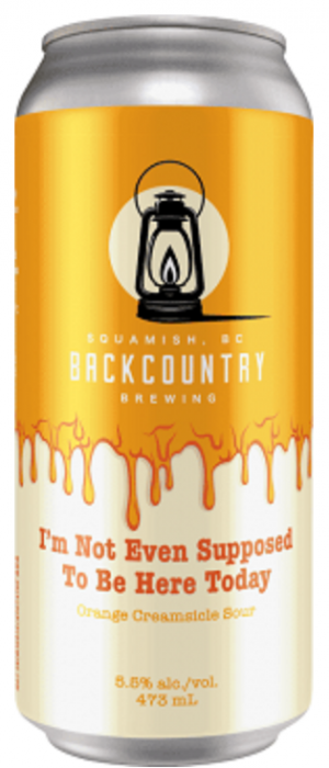 I'm Not Even Supposed To Be Here Today: Orange Creamsicle Sour by Backcountry Brewing in British Columbia, Canada