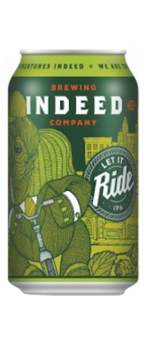 Let It Ride IPA by Indeed Brewing Company in Minnesota, United States