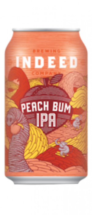 Peach Bum IPA by Indeed Brewing Company in Minnesota, United States